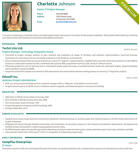 Resume Template - 'Clear' | Create your CV