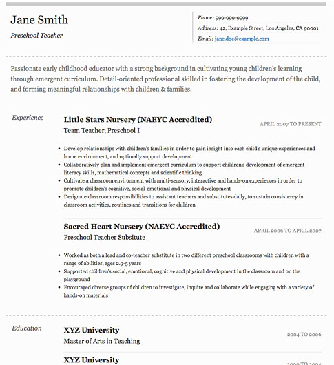 Resume Template - 'Elegant' | Create your CV
