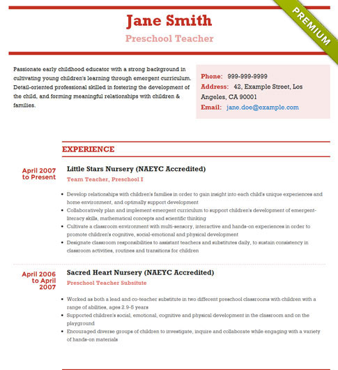 Resume Template - 'Modernism' | Create your CV