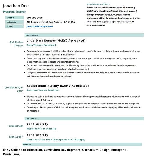 Resume Template - 'Sleek' | Create your CV